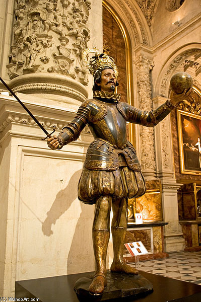 Sculpture Of King Ferdinand Iii Of Castile, Cathedral Of Seville by Pedro Roldán (1624-1699)