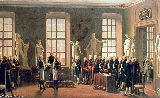 Gustav Iv Adolf''s Visit To The Academy Of Fine Arts In, 1797 by Pehr Hillestrom (1732-1816, Sweden)