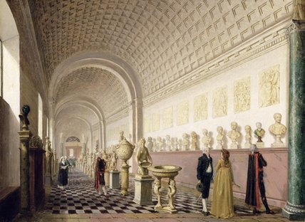 The Inner Gallery Of The Royal Museum At The Royal by Pehr Hillestrom (1732-1816, Sweden)