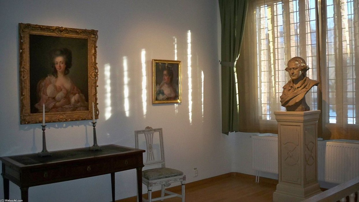 Interior Of A Borås Art Museum Room Dedicated To Peter Adolf Hall by Peter Adolf Hall (1739-1793, Sweden)