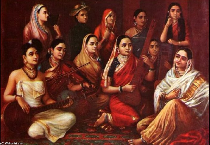 Galaxy Of Musicians by Raja Ravi Varma (1848-1906, India)