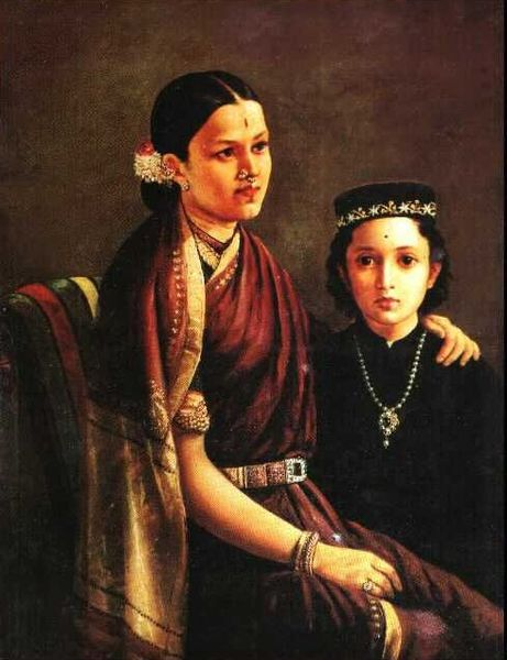 Mrs. Ramanadha Rao by Raja Ravi Varma (1848-1906, India)