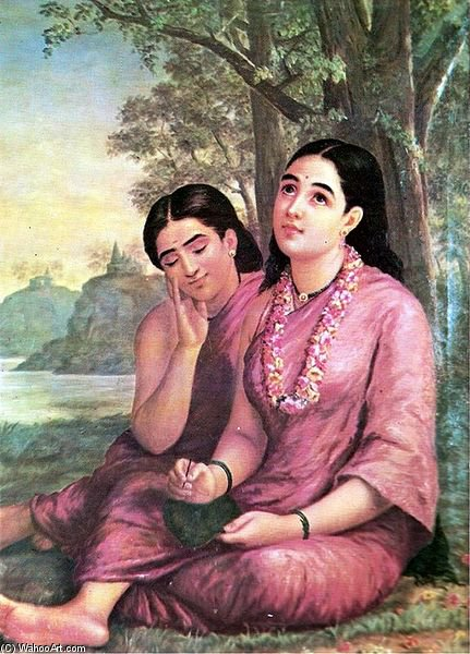 Shakuntala - by Raja Ravi Varma (1848-1906, India)
