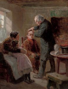 Ralph Hedley - The Phrenologist's Visit