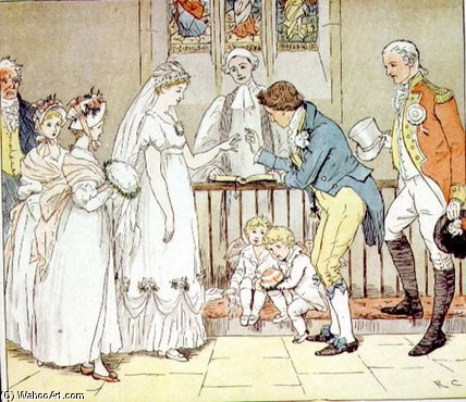 And She Very Imprudently Married The Barber by Randolph Caldecott (1846-1886, United Kingdom)