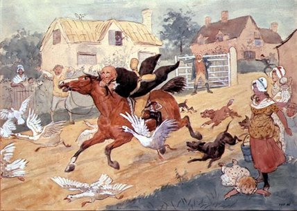 Gilpin's Ride by Randolph Caldecott (1846-1886, United Kingdom)