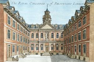 Robert Morden - The Royal College Of Physicians, From --a Book Of The Prospects Of The Remarkable Places In And Abou