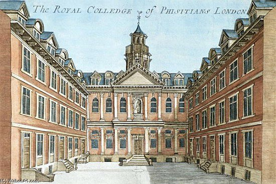 The Royal College Of Physicians, From ``a Book Of The Prospects Of The Remarkable Places In And Abou by Robert Morden (1650-1703, United Kingdom) | Reproductions Robert Morden | ArtsDot.com
