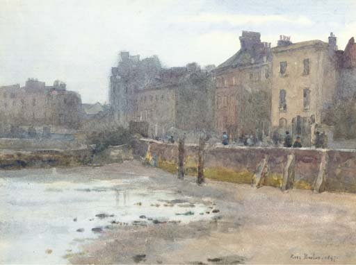 Old Chelsea Wall, London by Rose Maynard Barton (1856-1930, Ireland)