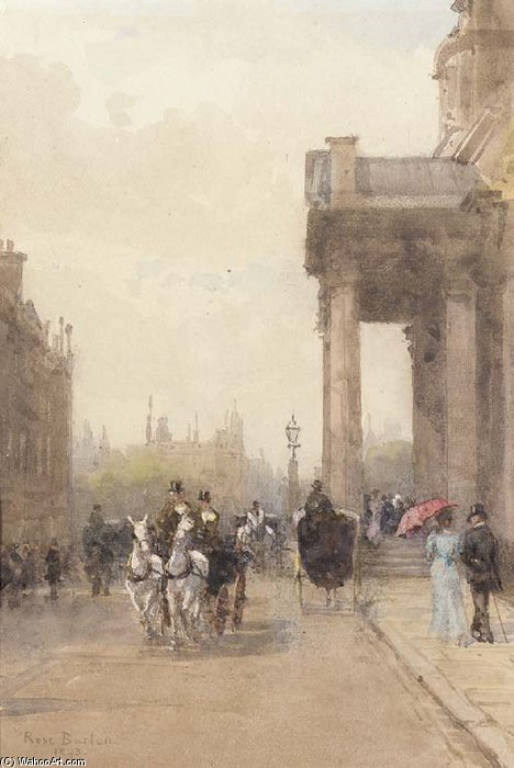 St. George's Church And Hanover Square by Rose Maynard Barton (1856-1930, Ireland)