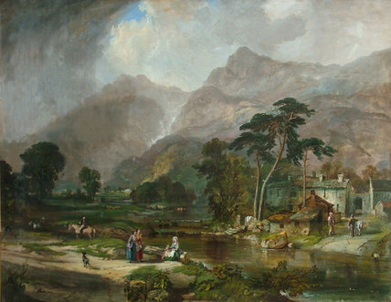 Borrowdale by Samuel Bough (1822-1878, United Kingdom)