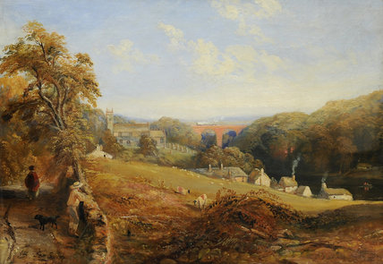 Wetheral - View Of The River Eden Showing Wetheral by Samuel Bough (1822-1878, United Kingdom)