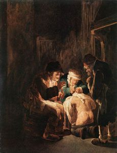 Sebastiano Mazzoni - Hunting By Candlelight