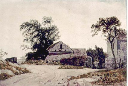 Roadside Cottages by Augustus Wall Callcott (1779-1844, United Kingdom)