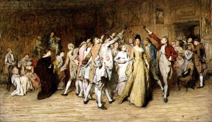 The Queen Of The Swords by William Quiller Orchardson (1832-1910, Scotland) | Oil Painting | ArtsDot.com