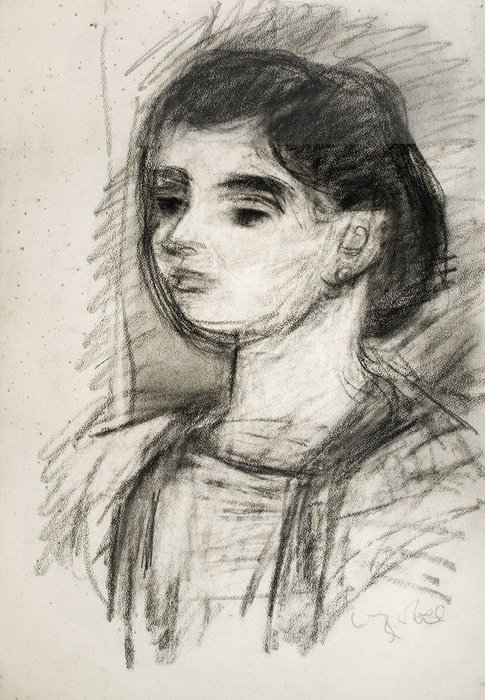 Young Girl by Bela (Adalbert) Czobel (1883-1976, Hungary)
