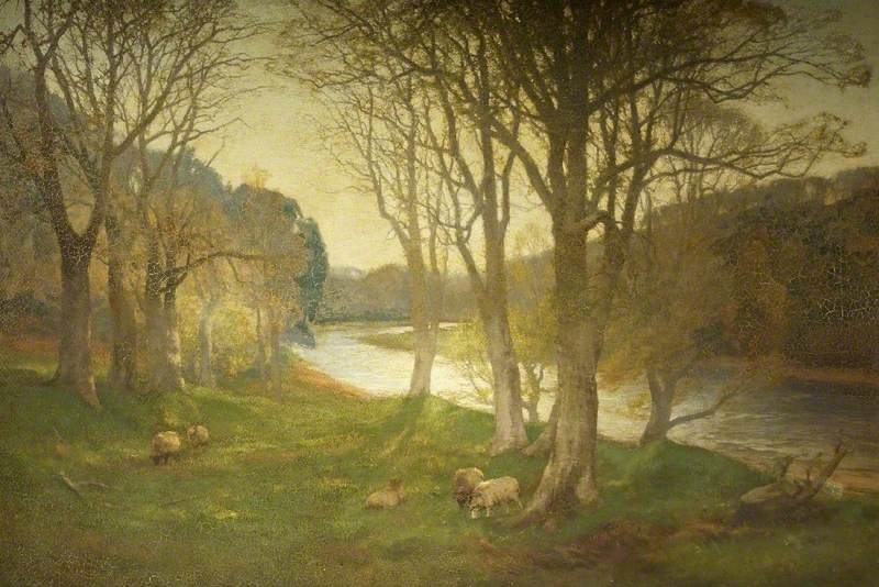 A Misty Morn On The Dee by David Farquharson (1839-1907, United Kingdom)
