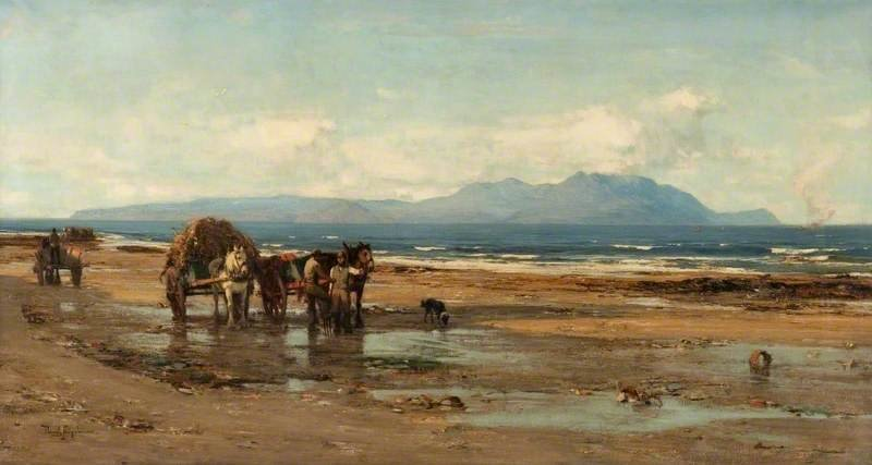 Arran From The Ayrshire Coast by David Farquharson (1839-1907, United Kingdom) | Art Reproduction | ArtsDot.com