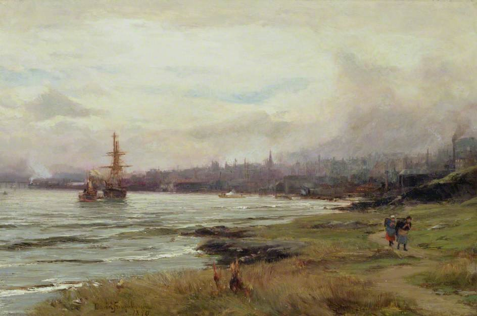 Dundee From The East by David Farquharson (1839-1907, United Kingdom) | Oil Painting | ArtsDot.com