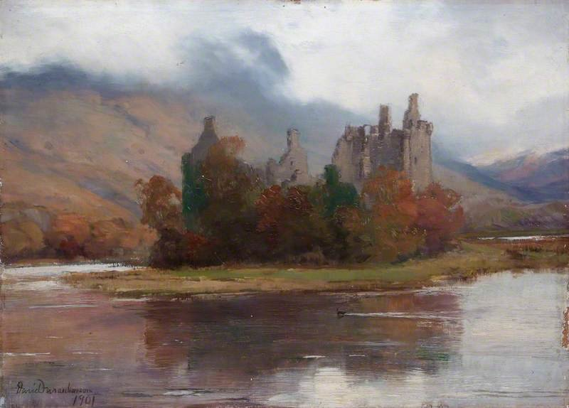 Kilchurn Castle, Argyll by David Farquharson (1839-1907, United Kingdom) | ArtsDot.com