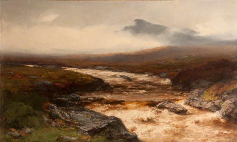 River In Spate by David Farquharson (1839-1907, United Kingdom) | ArtsDot.com