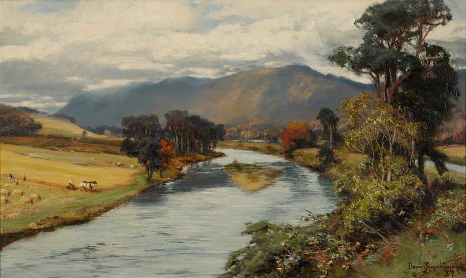 The Ness And The Caledonian Canal by David Farquharson (1839-1907, United Kingdom)
