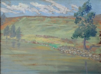 Along The Riverbank by Derwent Lees (1884-1931, Australia)