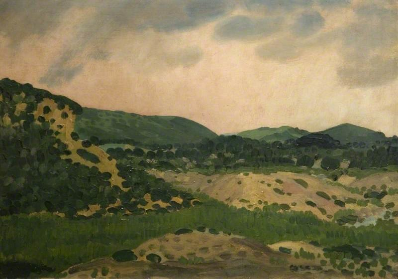Crick Barrow, Monmouthshire by Derwent Lees (1884-1931, Australia)