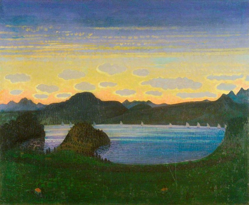 Evening by Derwent Lees (1884-1931, Australia)