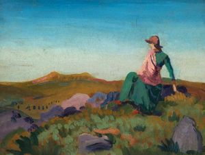 Derwent Lees - Landscape With A Figure