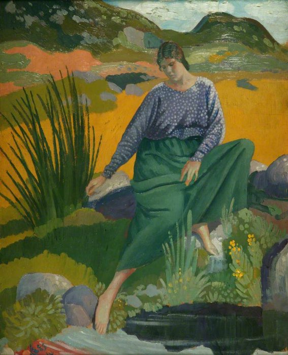 Lyndra By The Pool by Derwent Lees (1884-1931, Australia)