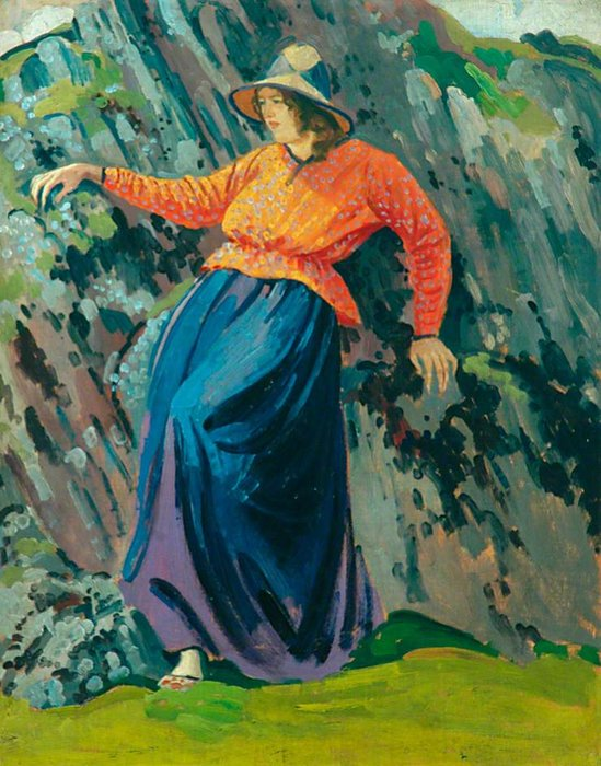 Lyndra By The Rocks by Derwent Lees (1884-1931, Australia)