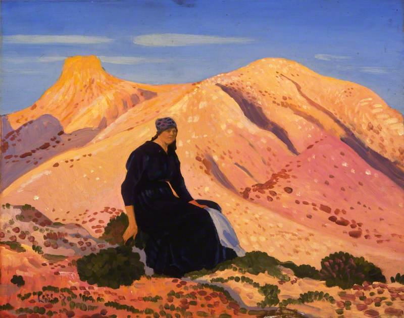 Lyndra In The Pyrenees by Derwent Lees (1884-1931, Australia)