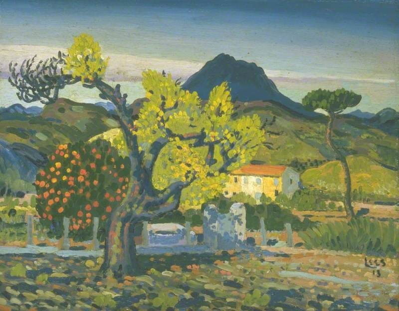 Pear Tree In Blossom by Derwent Lees (1884-1931, Australia)