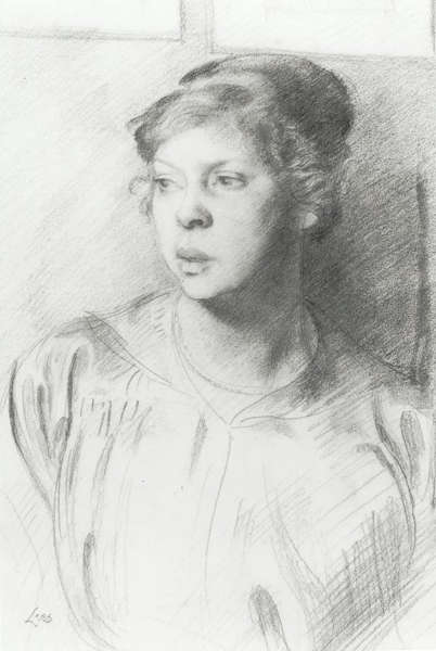 Portrait Study Of A Young Woman by Derwent Lees (1884-1931, Australia)