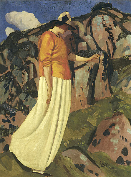 The Yellow Skirt by Derwent Lees (1884-1931, Australia)