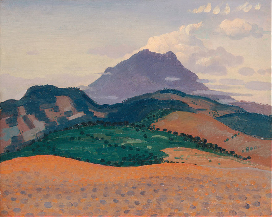 Tour Madeloc In The Pyrenees by Derwent Lees (1884-1931, Australia)
