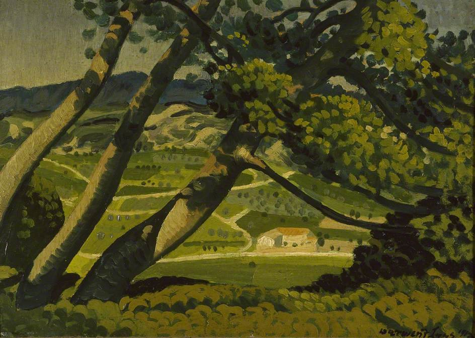 Trees, Provence by Derwent Lees (1884-1931, Australia)