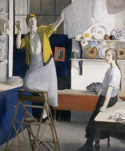 Harold Harvey - A Kitchen Interior
