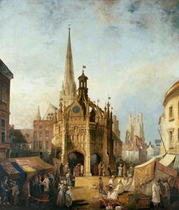 Henry Pether - A View Of Chichester Cros..