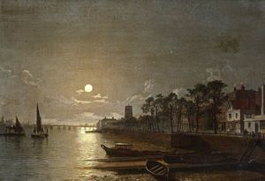 Henry Pether - Chelsea By Moonlight