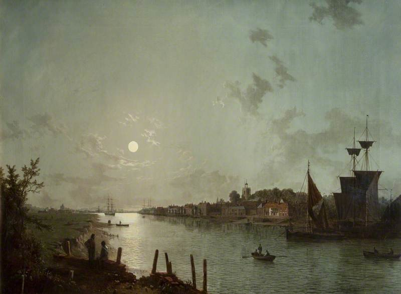 Scene On The Thames by Henry Pether (1828-1865, United Kingdom) | Oil Painting | ArtsDot.com