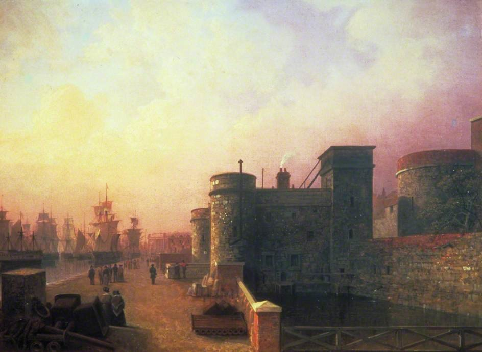 Traitor's Gate, Tower Of London by Henry Pether (1828-1865, United Kingdom)