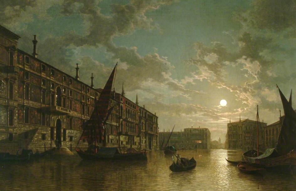 Venice By Moonlight by Henry Pether (1828-1865, United Kingdom)