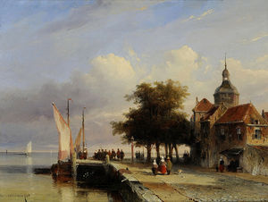 Jan Weissenbruch - The Quay Groothoofd In Do..
