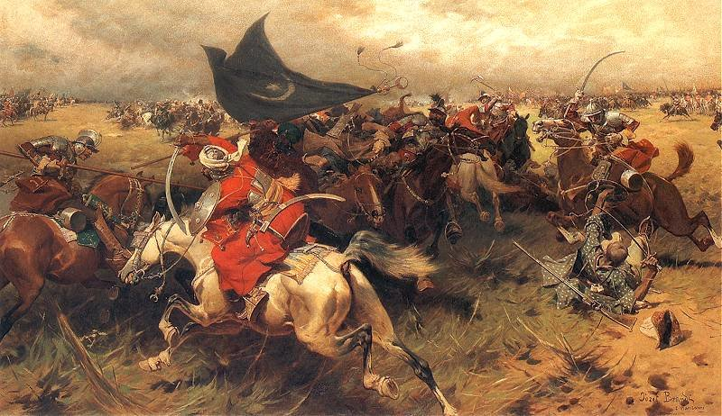 Battle Over The Turkish Banner by Jozef Brandt (1841-1915) | Painting Copy | ArtsDot.com