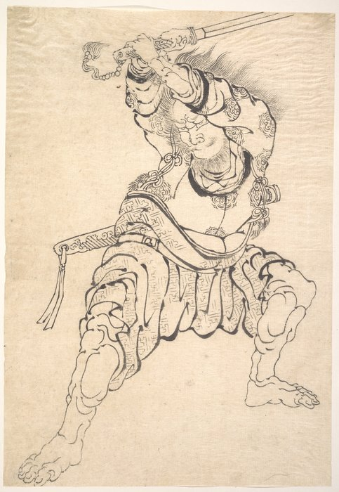 A Warrior by Katsushika Hokusai (1760-1849, Japan) | Museum Art Reproductions | ArtsDot.com