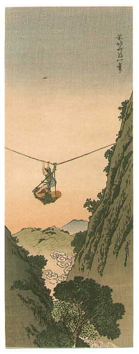 Order Art Reproduction : Basket Rider by Katsushika Hokusai (1760-1849, Japan) | ArtsDot.com