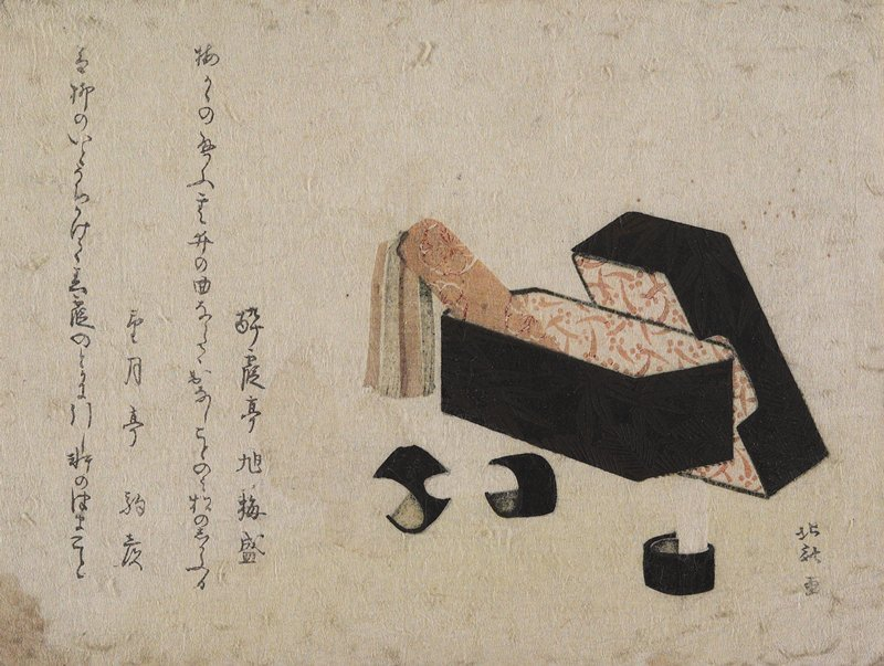 Black Lacquer Box With Koto Strikers by Katsushika Hokusai (1760-1849, Japan) | Art Reproduction | ArtsDot.com