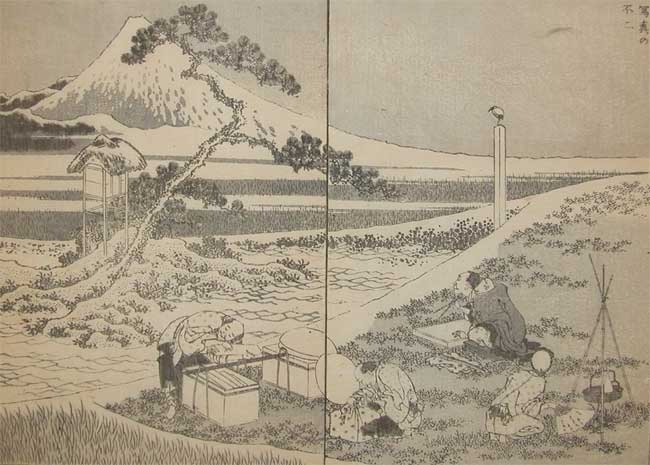 Drawing Fuji From Life by Katsushika Hokusai (1760-1849, Japan) | ArtsDot.com